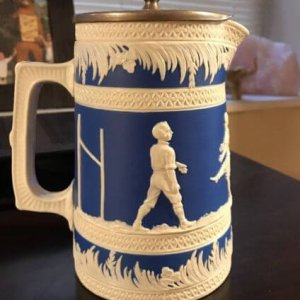 Copeland Porcelain Pitcher Football 1895