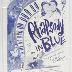 1956 Rhapsody in Blue Movie Poster One Sheet R56/492