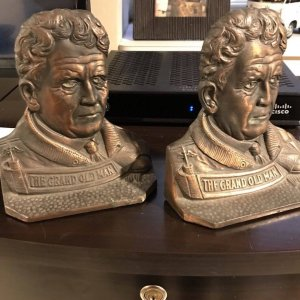 Amos Alonzo Stagg Cast Iron Bookends Football