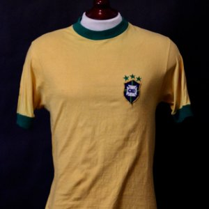 A Rivellino Game-Used #11 Brazil National Team Shirt.  7/18/1971 Brazil v Yugoslavia.  (Pele Farewell Match).