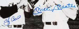 Mickey Mantle & Yogi Berra Signed Photo Yankees - COA JSA