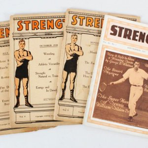 1920-21 Strength Magazine Book Lot (4)