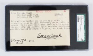 Connie Mack Signed Cut Athletics - COA SGC & JSA