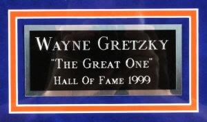 Wayne Gretzky Signed Cut Display Oilers - COA PSA/DNA