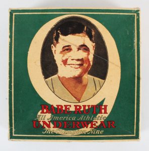Babe Ruth Underwear Box The Champion Nine