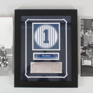 Yankees Monument Park Brick Display w/ Photos (2)
