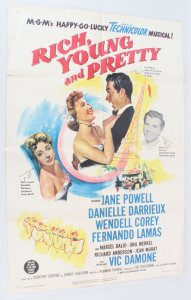 11951 Rich, Young and Pretty Movie Poster One Sheet 51/397