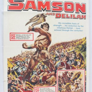 1959 Samson and Delilah Movie Poster One Sheet R59/301