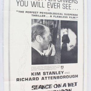 1964 Seance On A Wet Afternoon Movie Poster One Sheet