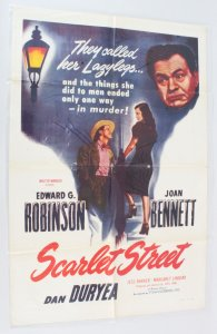 1949 Scarlet Street Movie Poster One Sheet
