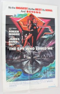 1977 The Spy Who Loved Me Movie Poster One Sheet 77/52