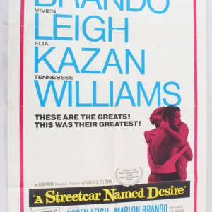 1970 A Streetcar Named Desire Movie Poster One Sheet R 70/88