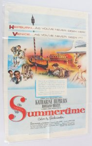 1955 Summertime Movie Poster One Sheet 55/296