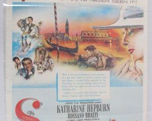 1955 Summertime Movie Poster One Sheet 55/296