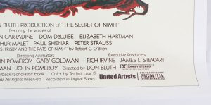 1982 The Secret Of NIMH Movie Poster One Sheet