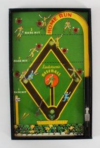 Lindstrom's Baseball Marble Pinball Home Run Game 1930's