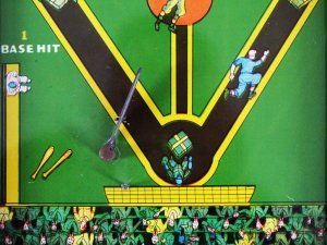 Lindstrom's Baseball Marble Pinball Home Run Game 1930's