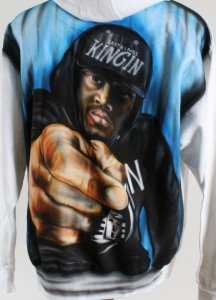 Nike Air Jordan 1 Shoes & Airbrushed Sweatshirt Owned by Tyga