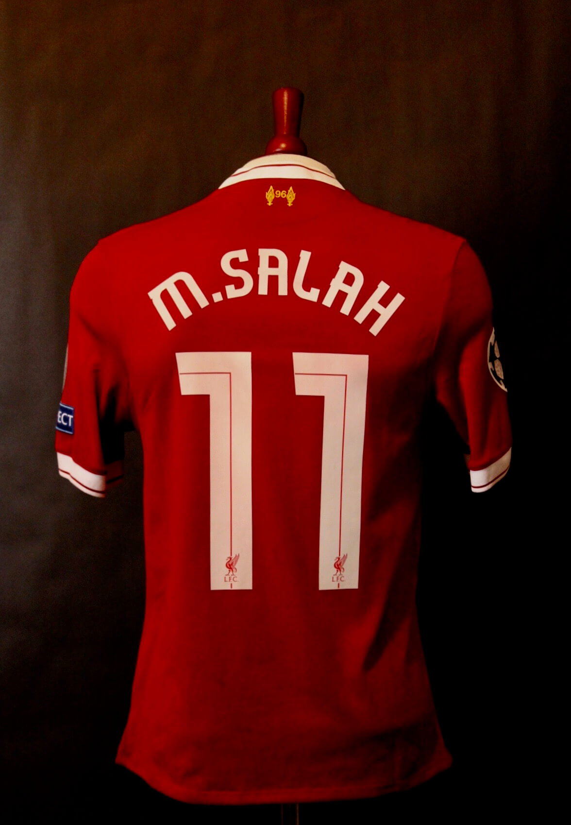 hot sales e934f 8216d A Mohamed Salah Game-Used #11 Liverpool FC Shirt. 2017/18 UEFA Champions  League.