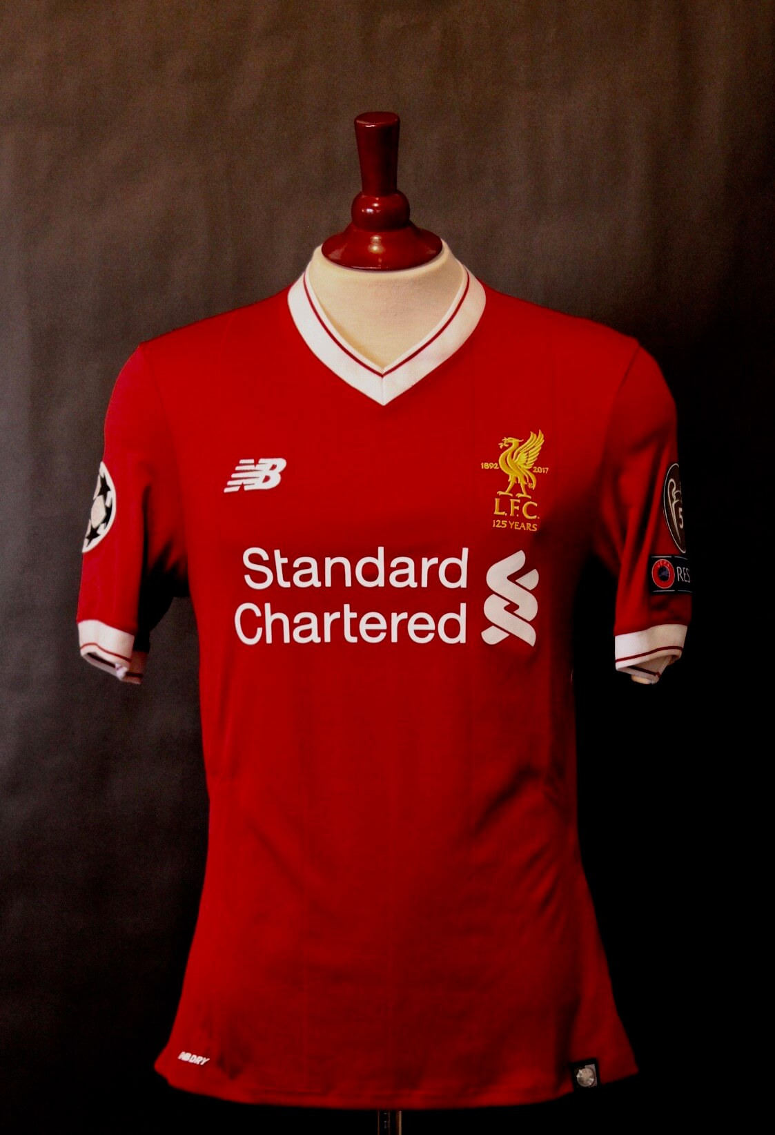 low priced 742b4 469f7 A Mohamed Salah Game-Used #11 Liverpool FC Shirt. 2017/18 UEFA Champions  League. | Memorabilia Expert