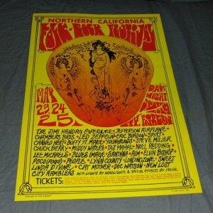 1969 Jimi Hendrix Concert Poster Led Zepplin
