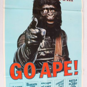 1974 Ultra Rare Planet Of The Apes Movie Poster One Sheet 74/193