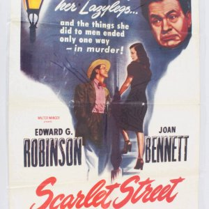 1949 Scarlet Street Movie Poster One Sheet