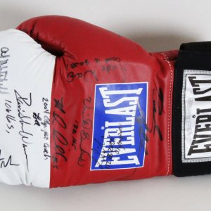 2004 USA Olympic Team Multi-Signed Boxing Glove - COA JSA