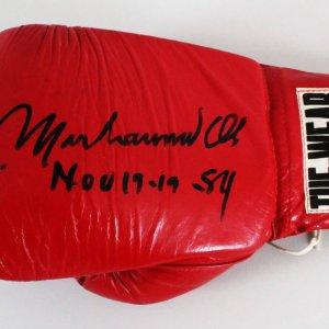 Muhammad Ali Signed Boxing Glove  - COA JSA