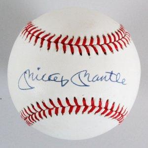 Mickey Mantle Signed Baseball Yankees - COA JSA
