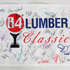 84 Lumber Classic Golf Pin Flag (42) Multi-Signed   - COA JSA