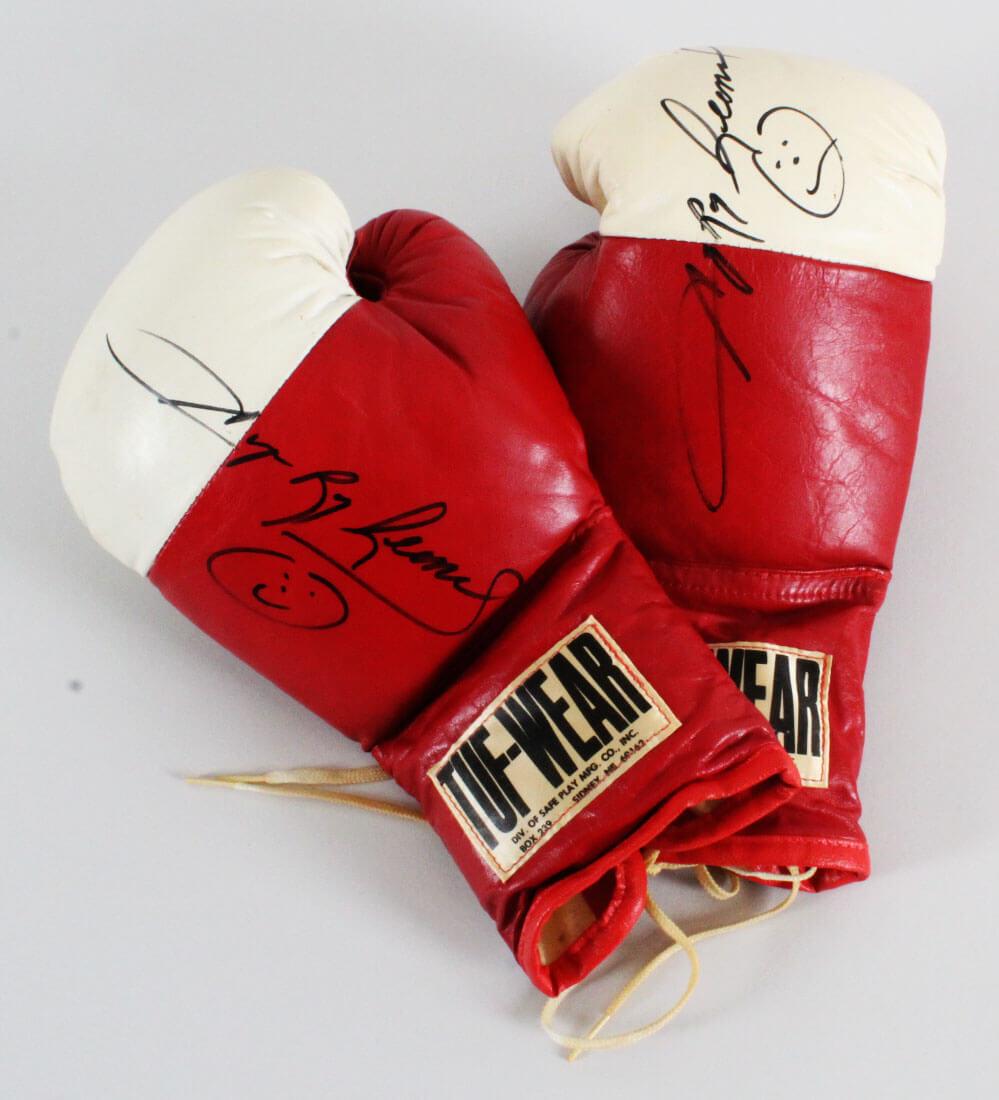 Sugar Ray Leonard Signed Boxing Gloves