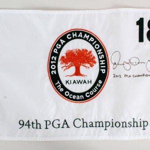 Rory McIlroy Signed Golf Flag - COA UDA
