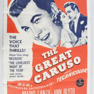 The Great Caruso Movie Poster One Sheet R62/231