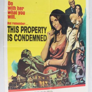 1966 This Property Is Condemned Movie Poster One Sheet 66/198