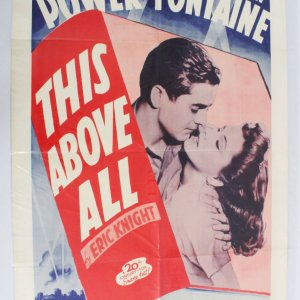 1952 This Above All Movie Poster One Sheet R52/210