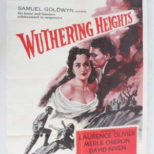 1955 Wuthering Heights Movie Poster One Sheet R55/236
