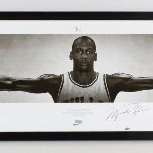 Michael Jordan Signed Poster Oversized Wings - COA UDA & JSA