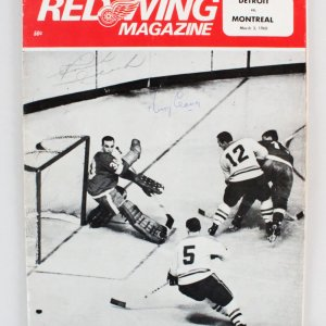 1968 Montreal Canadiens Signed Program King Clancy - COA JSA