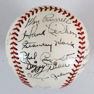 1939 Chicago Cubs Team-Signed Baseball - COA JSA
