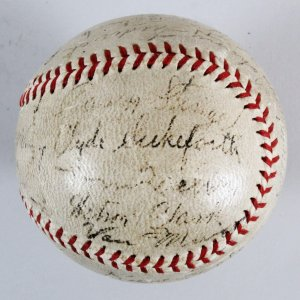 1934 Brooklyn Dodgers Team-Signed Baseball - COA JSA