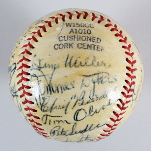 1951  Philadelphia Athletics Team-Signed Baseball - COA JSA