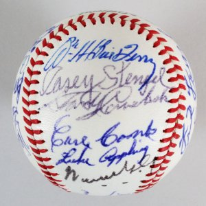 Casey Stengel Signed Baseball with HOFers & Stars - COA PSA/DNA