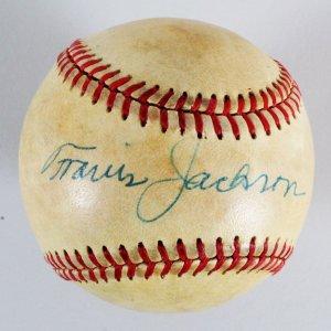 Travis Jackson Signed Baseball Giants - COA PSA/DNA