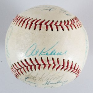 1970 Detroit Tigers Team-Signed Baseball - COA JSA