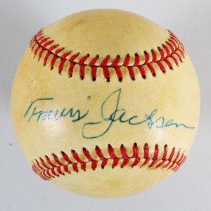 Travis Jackson Signed Baseball Giants - COA JSA