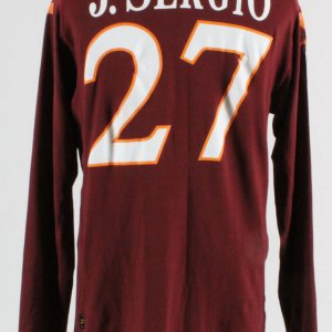 Julio Sergio Game-Worn Jersey Roma Soccer