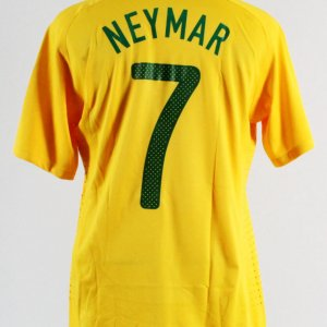 2010 Neymar Game-Worn Jersey Brazil National Team
