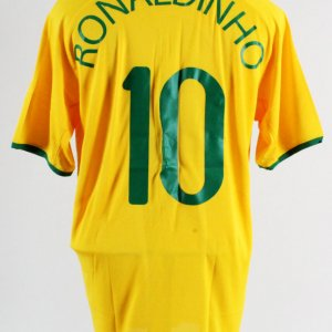 2008 Ronaldinho Game-Worn Jersey Brazil Olympic Team