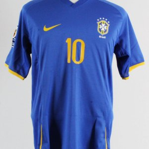 2009 Ronaldinho Game-Worn Jersey Brazil National Team